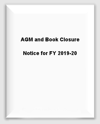 AGM and Book Closure Notice for FY 2019-20