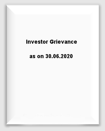 Investor Grievance - 30th June, 2020