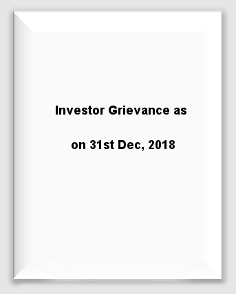 Quaterly - Investor Grievance 31st Dec 2018