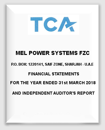 MEL Power Systems FZC Financials