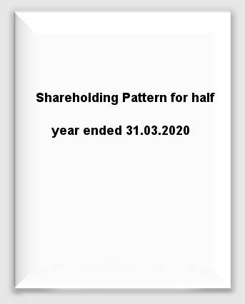 Shareholding Pattern for half year ended 31.03.2020